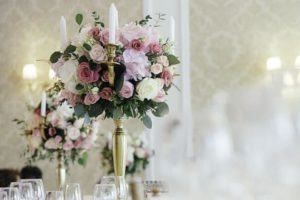 Flower table centrepieces
