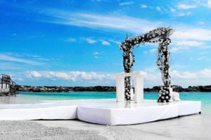 Floral backdrops, mandaps and arches
